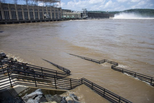 At least 18 gates were expected to be opened at Conowingo Dam in Darlington, Maryland on Thursday, July 26, 2018.