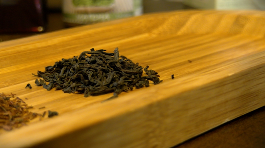 Black tea has the highest amount of caffeine because it is fermented the most.