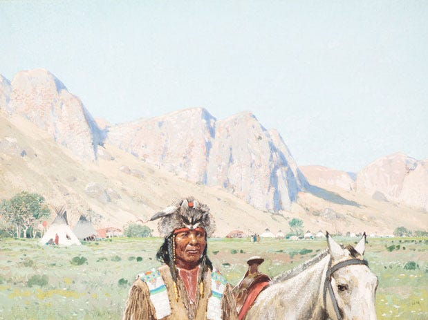 """On the Alert,"" 1895 by Henry Farny, valued at up to $300,000, to be auctioned July 28, 2018 as part of the Coeur d'Alene Art Auction in Reno."