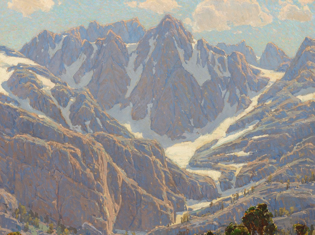 """Solitude's Enchantment,"" 1921 by Edgar Payne, valued at up to $500,000, to be auctioned July 28, 2018 as part of the Coeur d'Alene Art Auction in Reno."