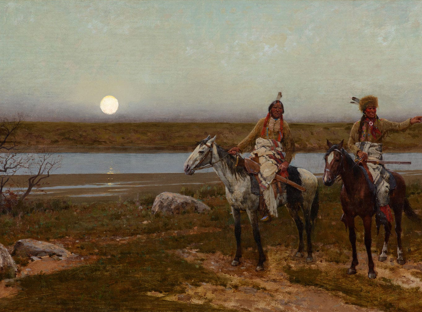 """Pastures New,"" 1901 by Henry Farny, valued at up to $600,000, to be auctioned July 28, 2018 as part of the Coeur d'Alene Art Auction in Reno."