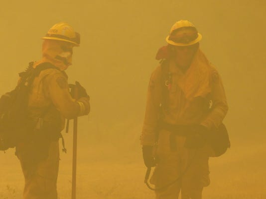 Carr Fire near Whiskeytown on Thursday