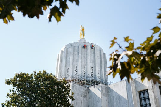 The Oregon State Capitol on July 26, 2018.