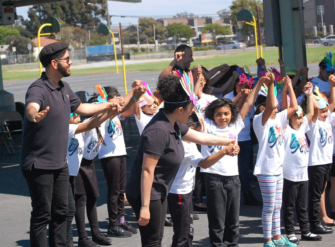 Students, ranging from kindergarten through high school, played instruments in between carnival-inspired games and barbecue on July 25 in the second annual YOSAL Palooza.