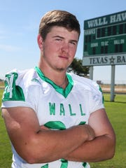 Wall's Gage Weishuhn had 75 tackles, 16 tackles for loss, eight sacks and three pass deflections during the 2018 regular season.