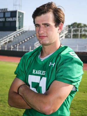 Jack Griffin, Eldorado, Defensive lineman, 6-2, 185, Sr.  Scouting report: Griffin wreaked havoc last year for the Eagles' defense. He was in on 110 tackles -- including 75 solo tackles and 22 tackles for loss -- and four sacks. He'll be Eldorado's leader in the trenches on both sides of the ball in 2018.
