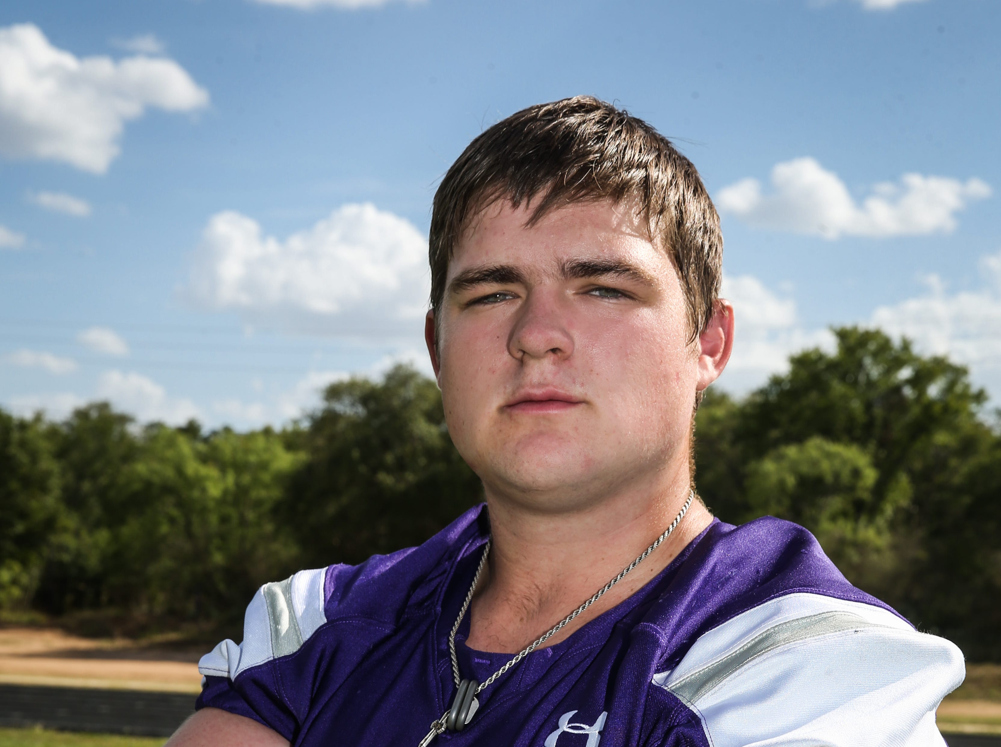 Lucas Martin, Mason, Offensive lineman, 6-3, 270, Sr.  Scouting report: Martin graded out at 92 percent as the Punchers' center last season, blocking for one of the best Class 2A offenses in the state. He was an honorable mention all-state selection. He gives Mason a strong cornerstone to build its offensive line around in 2018.