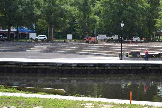 A new amphitheater along the Salisbury Riverwalk will be completed by the end of July.