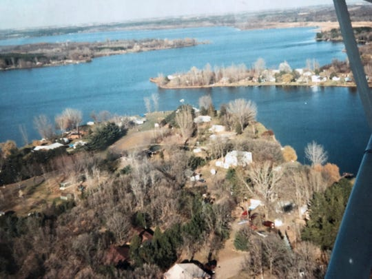 Little Rock Lake in October 1989, submitted by Kellie Gallagher.