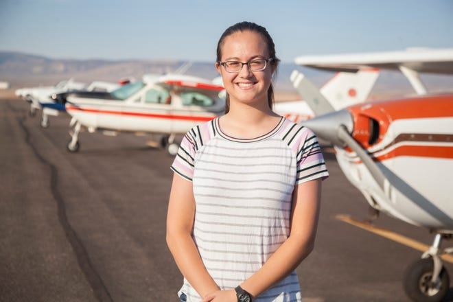 "Ha'aheo Carpenter is a step away from getting her private pilot's license. ""How do you explain flying? It can't be put into words, honestly,"" she says."