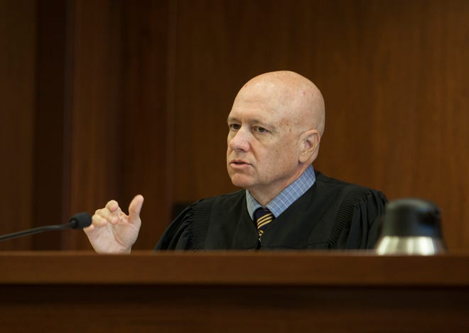 Judge Paul E. Dame announces on July 26, 2018, his ruling concerning the 16-year-old boy accused of bringing a incendiary device to Pine View High School.