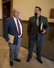 Defense Attorneys Stephen Harris and Matthew Harris comment on the ruling made by Judge Paul Dame concerning the 16-year-old boy accused of bringing a incendiary device to Pine View High School Thursday, July 26, 2018.