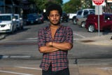 Deandre Pettiford-Bates talks on July 24 about being stopped and questioned by police in Stevens Point, Wis., in the early morning of July 23, 2018.