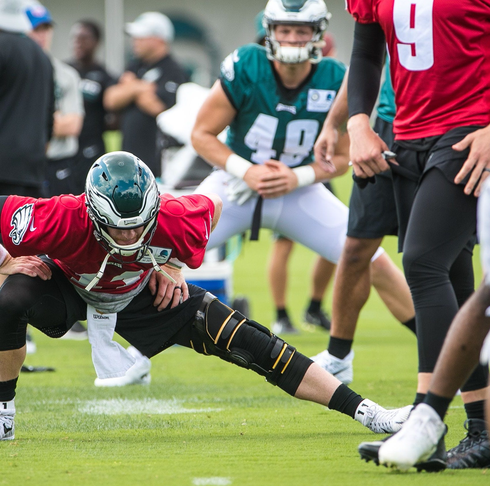 Philadelphia Eagles camp: Carson Wentz explains sitting out 11-on-11 drills