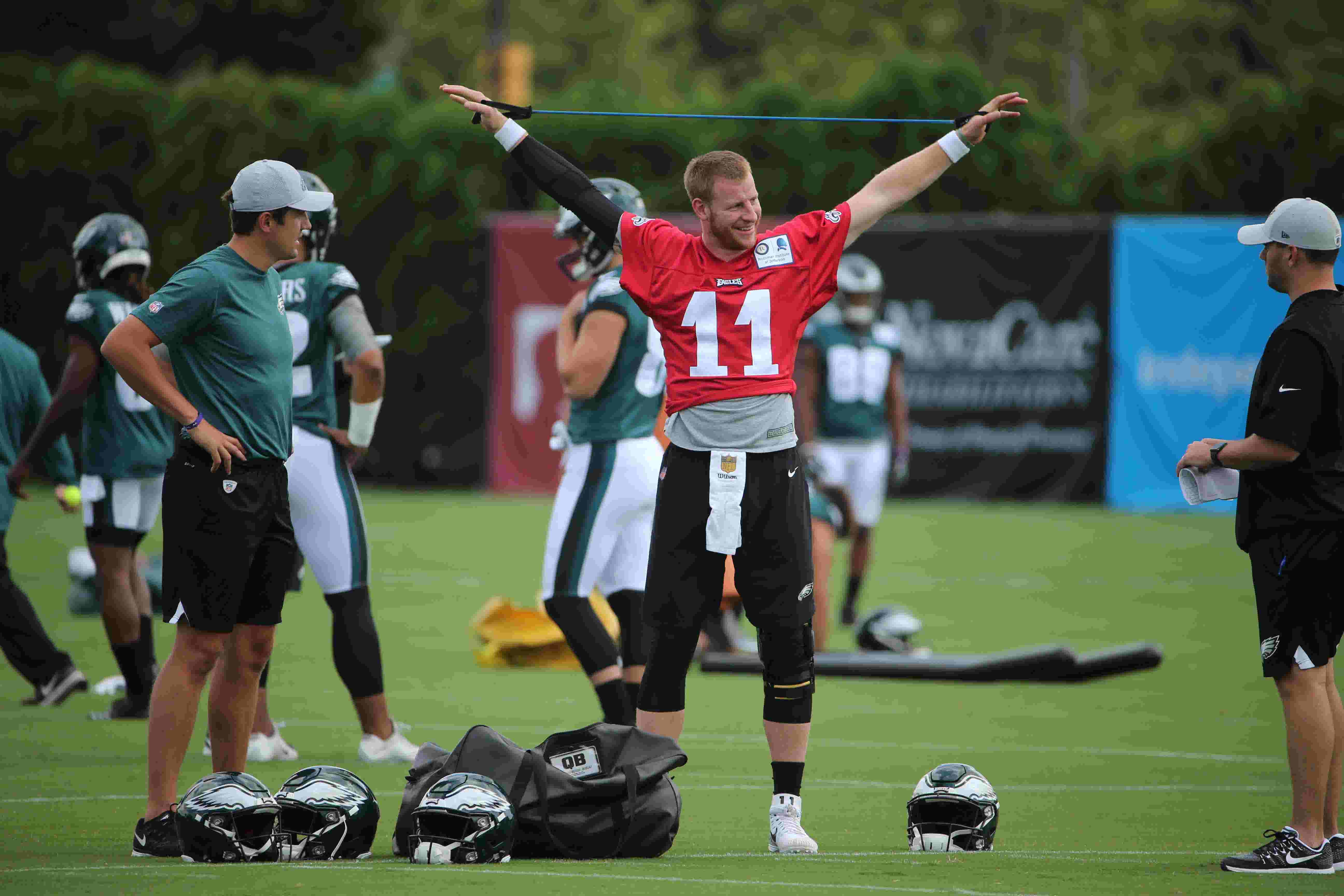 6dce30b94 Eagles  Carson Wentz on honeymoon   I got some workouts in