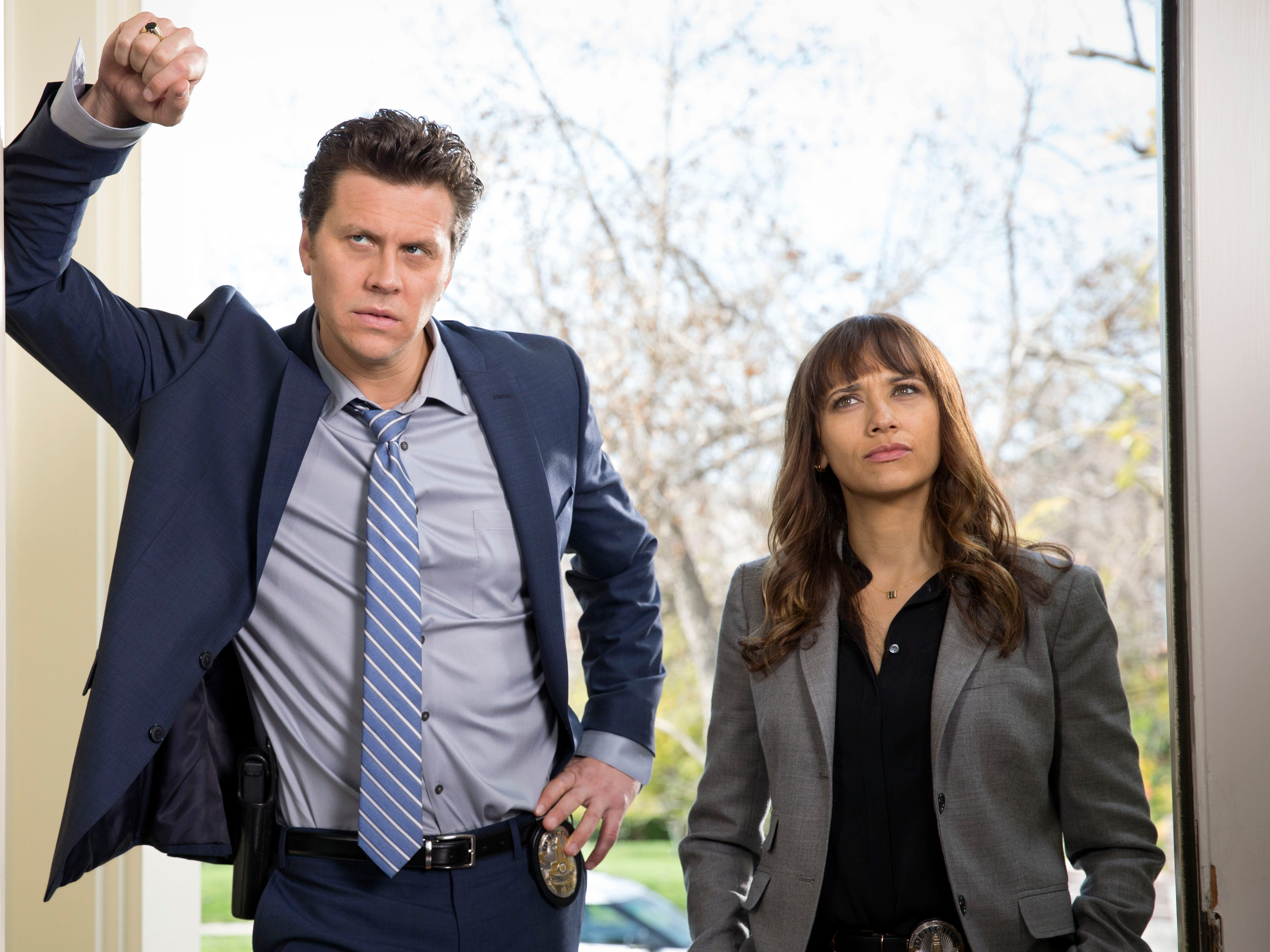 "Jones starred opposite Hayes MacArthur on TBS's ""Angie Tribeca,"" a comedy that takes a satirical look at police procedural shows."