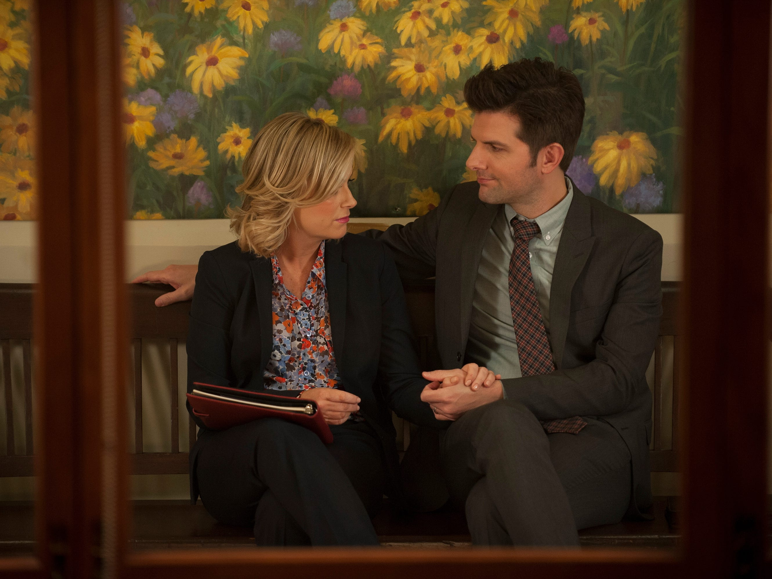 Leslie's love interest on the show was Ben Wyatt, played by Adam Scott. Ben was a state auditor who came to check on the parks and rec department and never left.