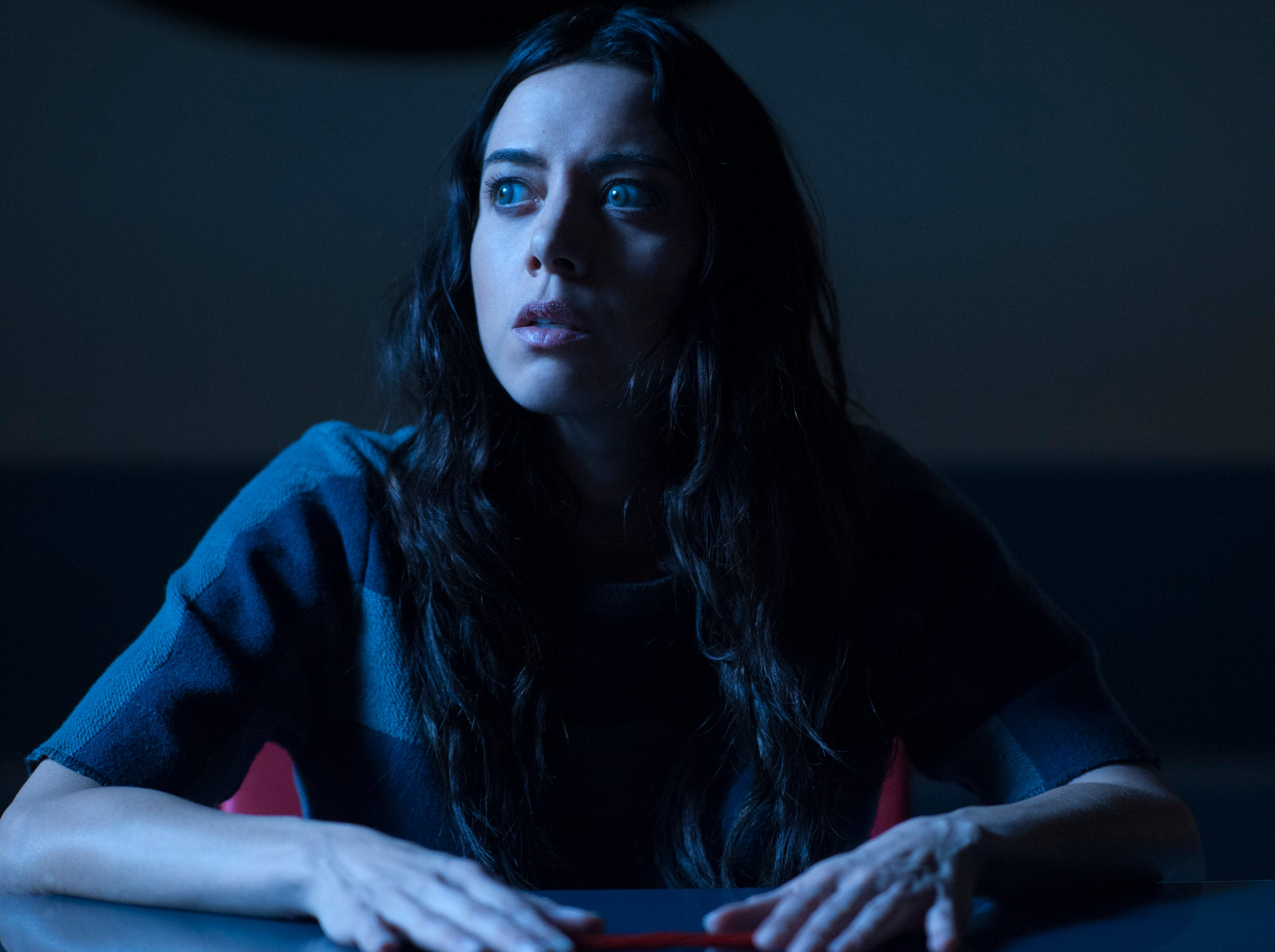 "Aubrey Plaza was Ron's assistant, April Ludgate, on the NBC series. She can currently be seen in FX's ""Legion"" with Dan Stevens as a mutant in his mind."