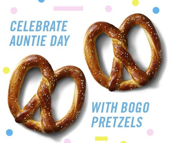 July 26 is National Aunt and Uncle Day but for Auntie Anne's it's Auntie Day.