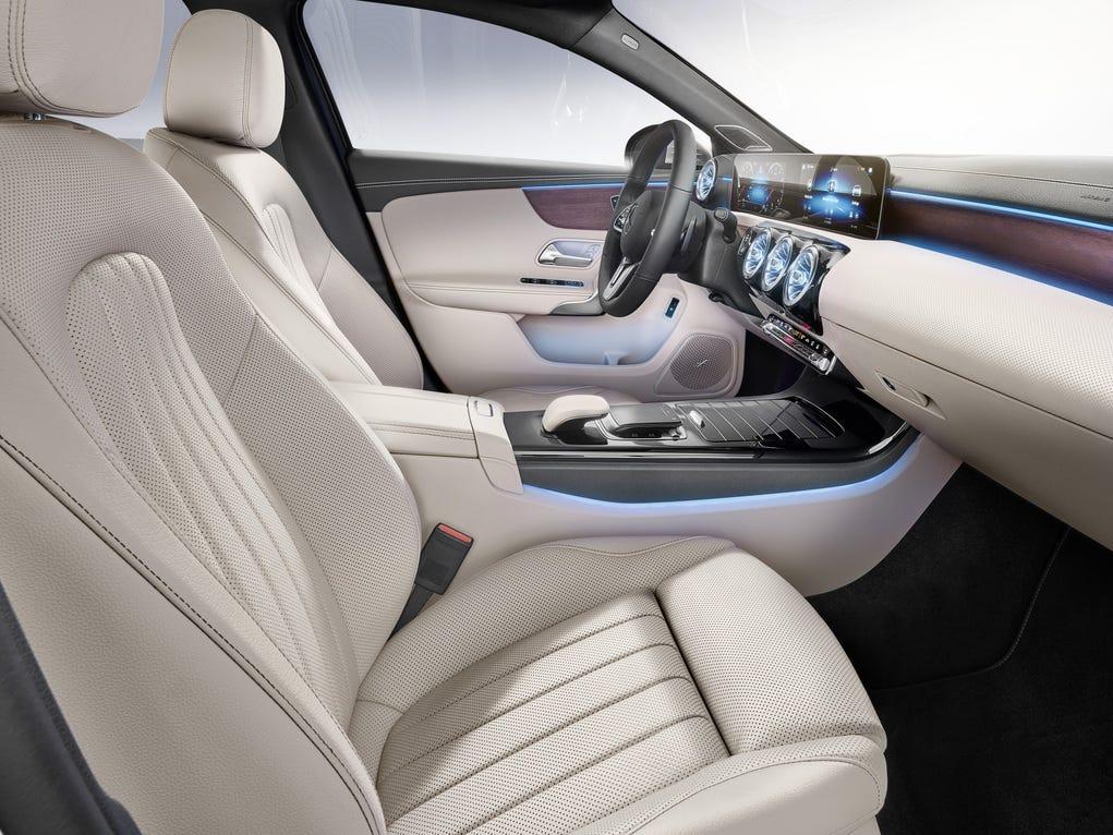 The 2019 Mercedes-Benz A-Class sedan.