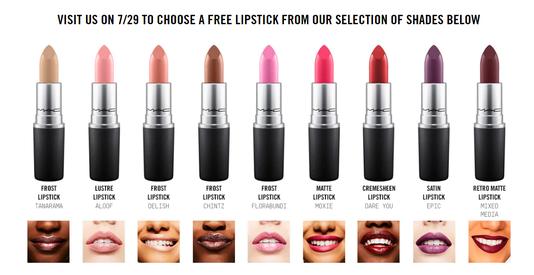 Mac Free Lipsticks
