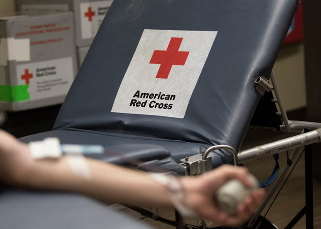 The American Red Cross collected donated blood from several donors at the Ross County Law Enforcement Center Friday morning in Chillicothe. The Red Cross hopes to collect type O blood since it is the most transfused blood type.