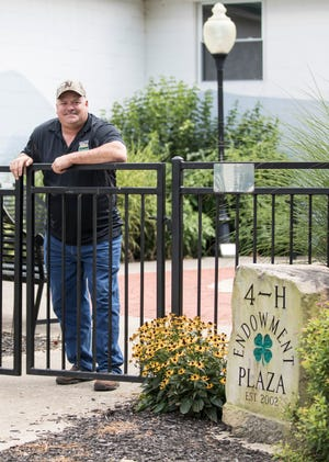 Newly elected Ross County fair board president Bryan Bethel proudly stands in the 4-H Plaza located at the Ross County fairgrounds.