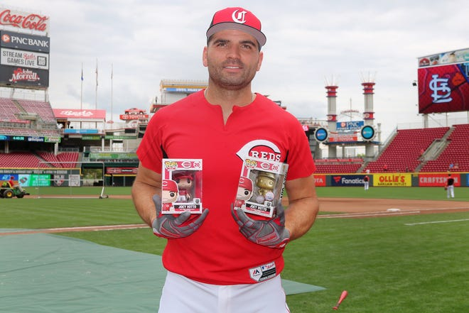Joey Votto will get his own Funko Pop! Collectible doll. Of the 20,000 figures that will be available,limited-edition gold versions will be randomly distributed to 500 lucky fans.