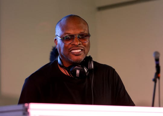 DJ Jazzy Jeff takes the stage on the first night of the Cincinnati Music Festival presented by P&G at Paul Brown Stadium on Thursday.