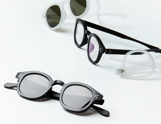 "Genusee, a company that makes glasses frames out of recycled water bottles that is based in Flint,  has  one frame style that is called "" The Roeper"" and it is offered in crystal fog  and classic black."