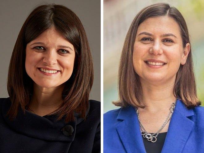 Haley Stevens, left, and Elissa Slotkin