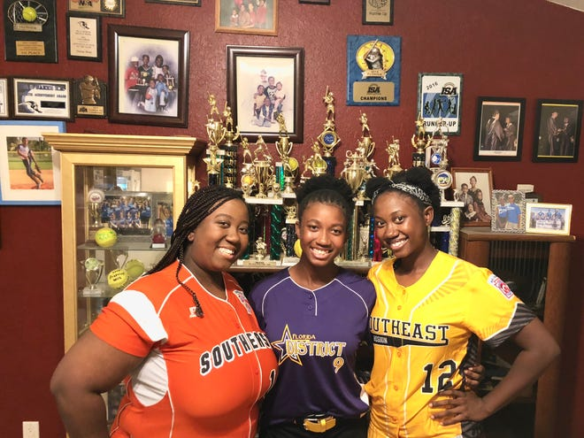Sisters Deniece, Delicia and Denia Bent of Cape Coral all played Little League softball and helped their teams reach the Southeast Regionals. Delicia is part of the 2018 District 9 Senior softball team that will play in the Little League World Series starting Monday in Roxana, Delaware.