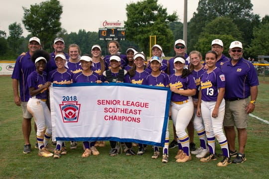 The District 9 Senior Little League softball team claimed the Southeast Regional title and qualified for the 2018 Little League World Series.