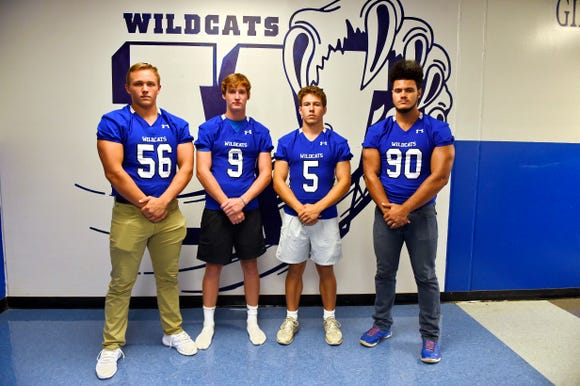 From left, Jake Fernicola, Clay Bartunek, Cooper Nicholson, Cameron Donald and their teammates are striving for improvement after winning two games in Jet Turner's first season as Woodmont's coach.