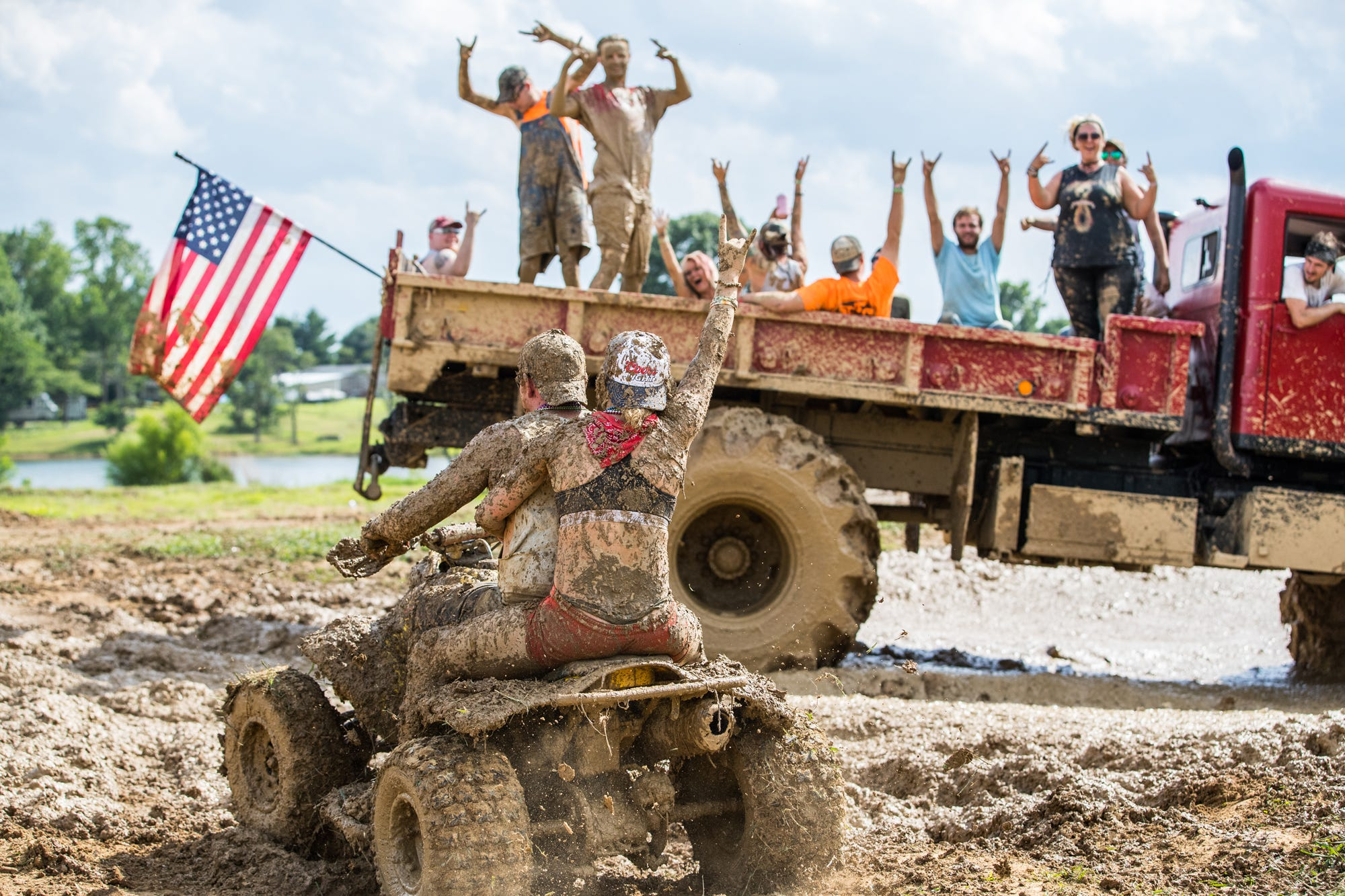 Getting muddy at Redneck Rave Indiana 2018