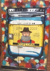 Cody Swaggerty's image of Popcorn Sutton is one of his most recognizable works. It is located in the alley near Market Square and Gay Street.