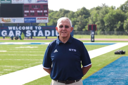 St. Thomas More coach Jim Hightower has a career record of 407-123-1, 303-95 at STM.