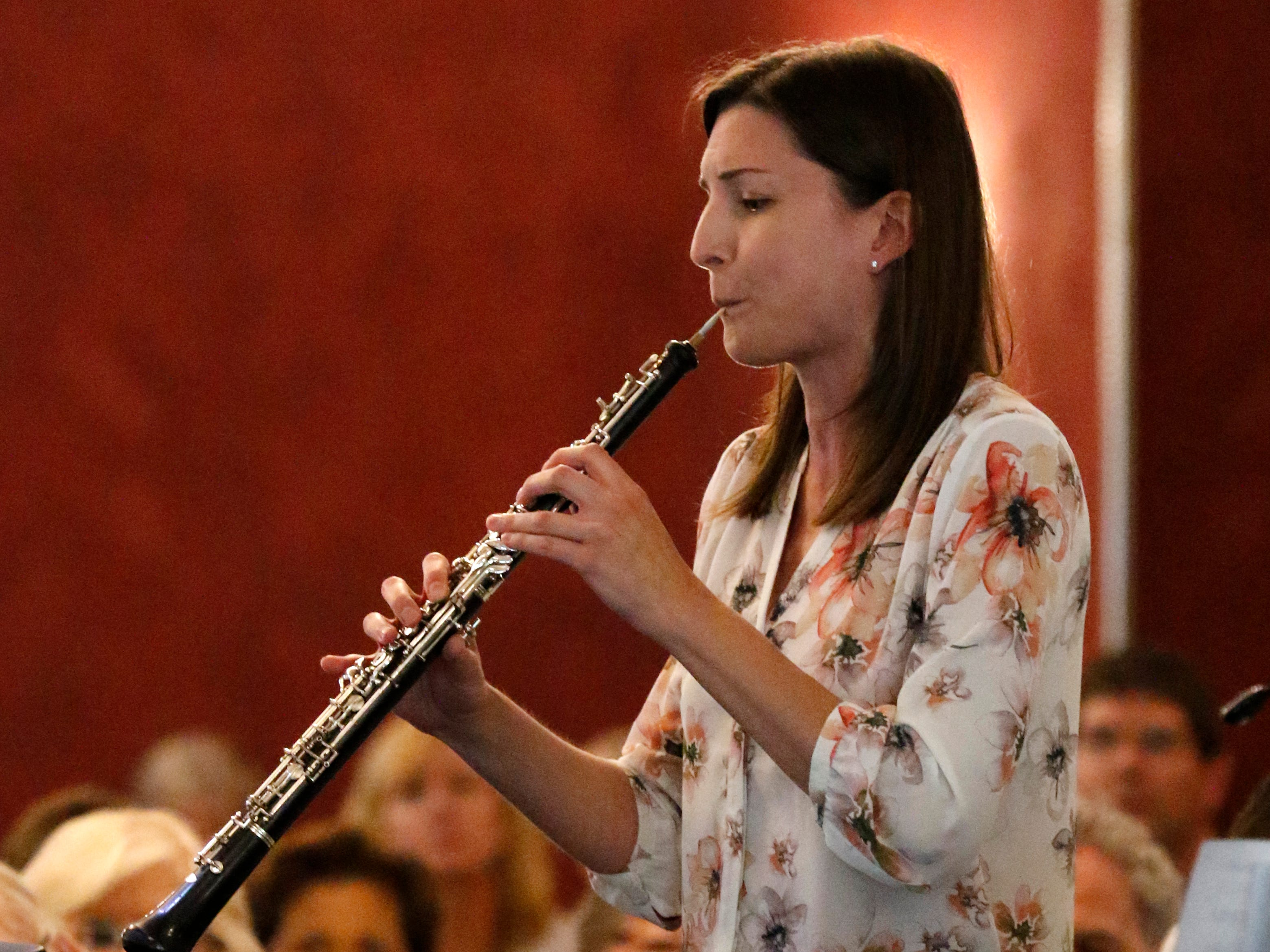 Erin Banholzer performs Friday afternoon, July 27, 2018, during a Lancaster Festival Cafe Concert at the Lancaster Country Club in Hocking Township. The concert featured principal members from different sections of the Lancaster Festival Orchestra.