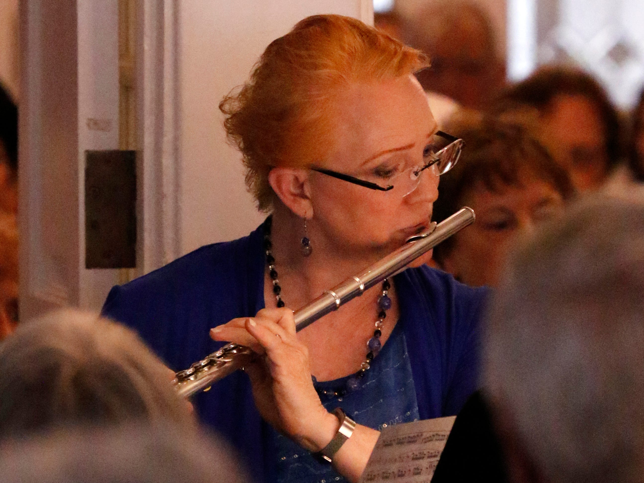Margaret Swinchoski performs Friday, July 27, 2018, during a Lancaster Festival Cafe Concert at the Lancaster Country Club in Hocking Township. The concert featured principal members from different sections of the Lancaster Festival Orchestra.