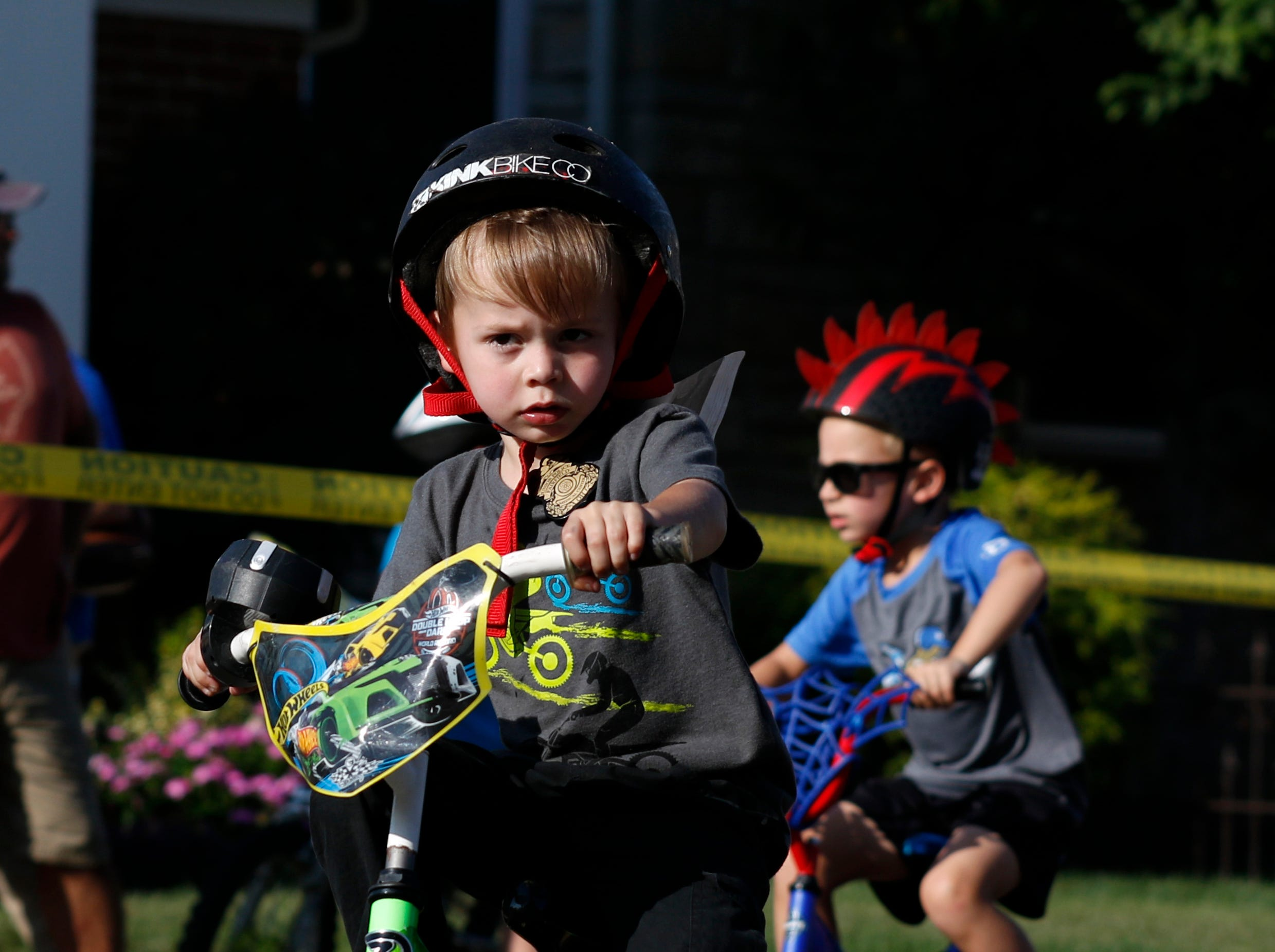 The 25th annual Lancaster Festival Children's Bicycle race took place Friday evening, July 27, 2018, in downtown Lancaster.