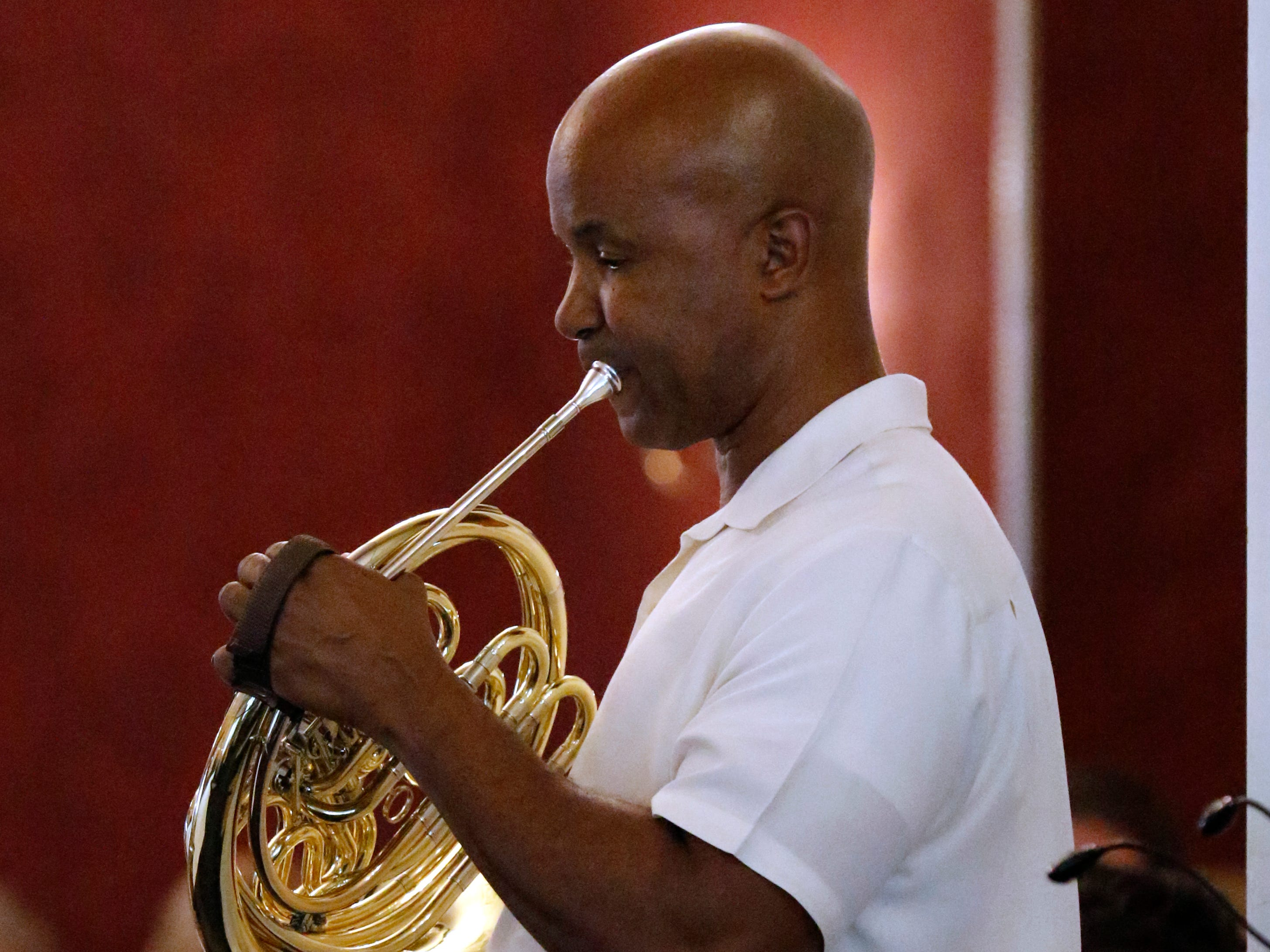 Joseph Lovinsky performs Friday afternoon, July 27, 2018, during a Lancaster Festival Cafe Concert at the Lancaster Country Club in Hocking Township. The concert featured principal members from different sections of the Lancaster Festival Orchestra.