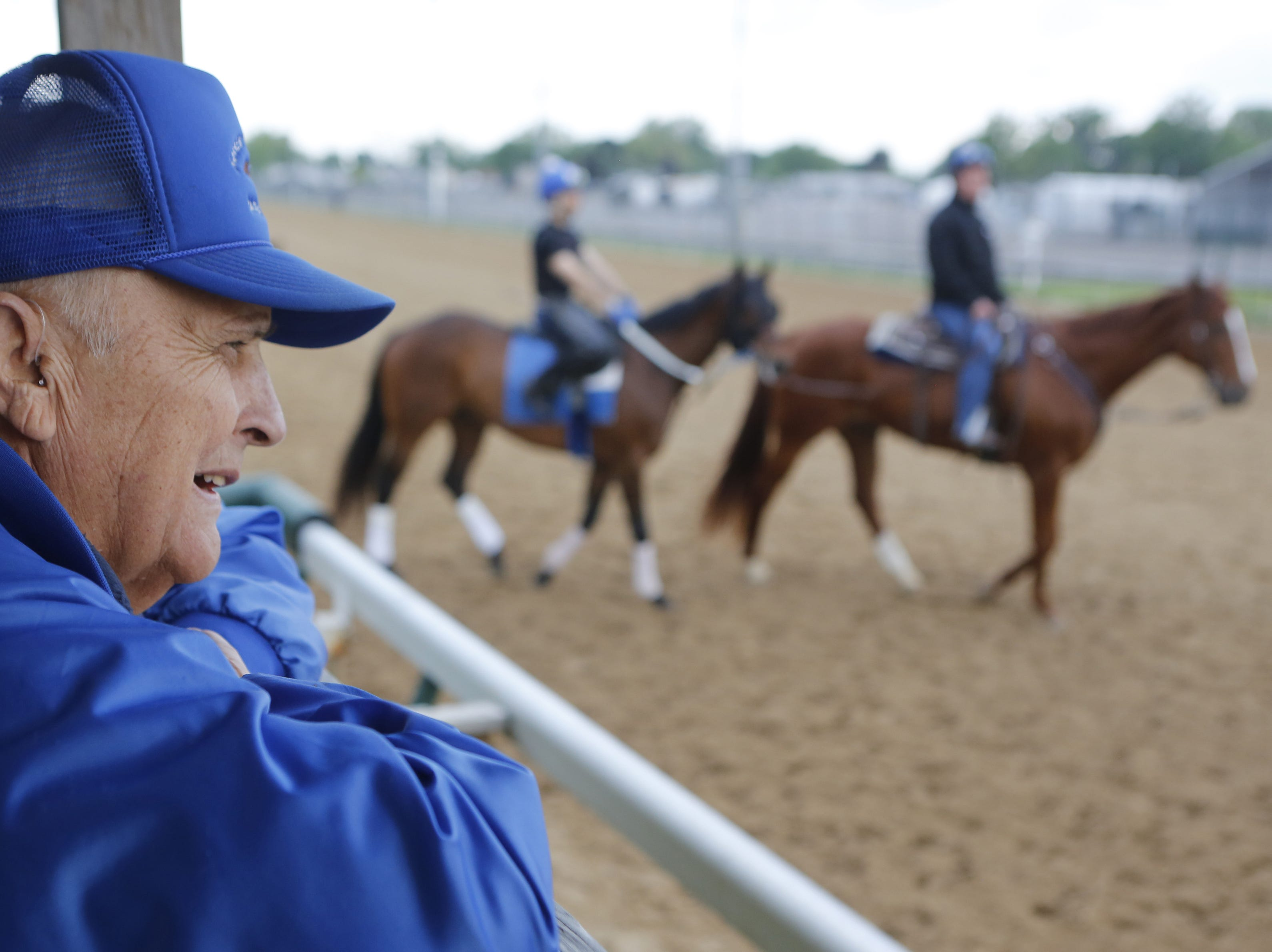 Forrest Kaelin trained thoroughbreds at Churchill Downs for nearly 60 year.