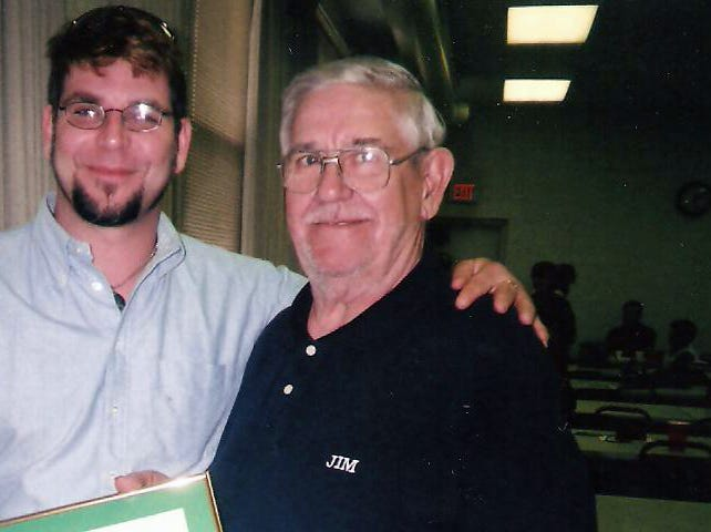 Jim Gravatte, right, owned the popular Jim's Tavern and was influential in the 5th ward.