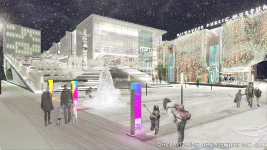 160815 Front Plaza Snow