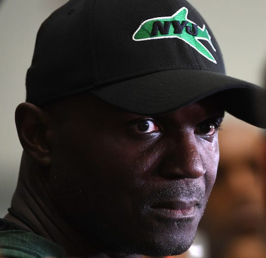 Jets training camp at the Atlantic Health Training Center in Florham Park on Friday, July 27, 2018. Head Coach Todd Bowles.
