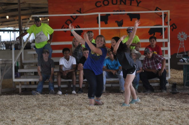 The girls won't be outdone at the annual Memorial Jack Rauch Anvil Toss at the Eddy County Fair July 27.