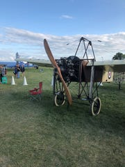 "The Preston family's 1909 replica plane used in the movie ""Amelia."""
