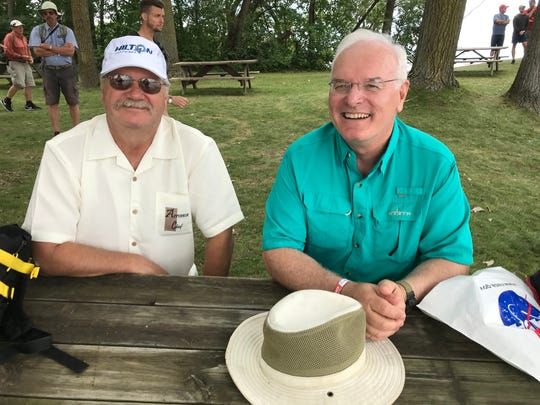 Robert Lobdelle, left, and Harold Agee, right, enjoyed the international connections they made at EAA AirVenture.