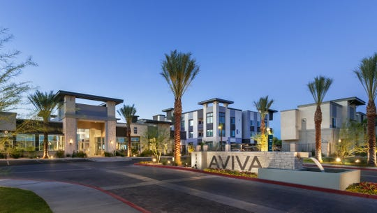Aviva Mesa offers one, two and three-bedroom units starting at $1,150.