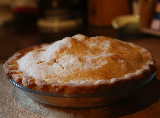 An apple pie baked by Cathy Stark at her home in Salt Point on July 26, 2018. Stark plans to enter several of her baked items in the Dutchess County Fair this year.